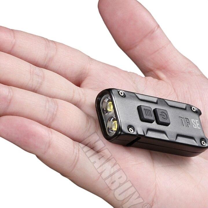 Nitecore-مفتاح معدني صغير SE مع مشبك ، 2021 lms ، 2x ، P8 led ، مصباح يدوي قابل لإعادة الشحن