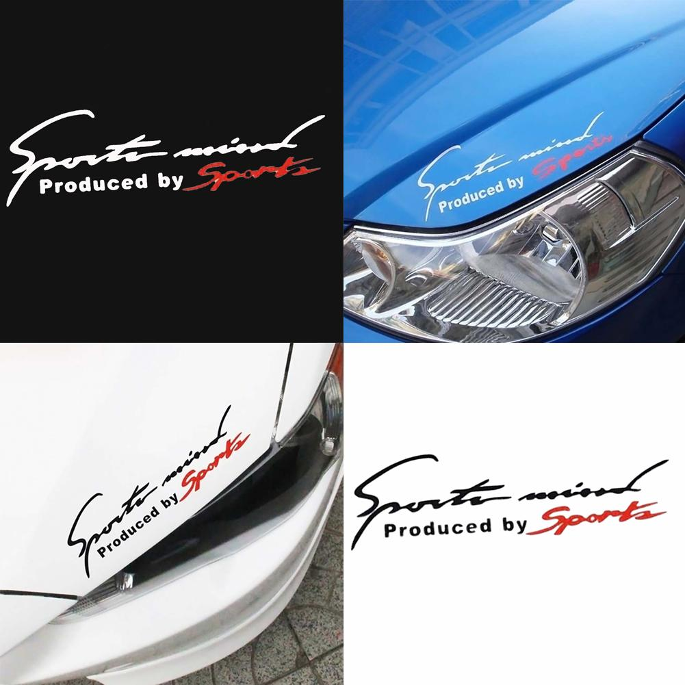 Car Sticker Reflective Sports Mind Letters Car-Styling Vehicle Headlight Decal Sticker Decor car acc