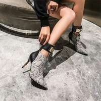 the new autumnwinter 2021 snake print heels are sexy and stylish with versatile diamond shoes