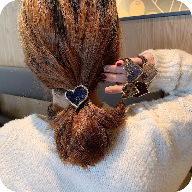 Women's Simple Ins Hair Accessories Hair Band Korean Mori Internet Influencer Elegant Heart Hair Rop