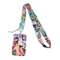 sp1380 movie women keychain neck strap lanyards keychain holder id card passport hanging rope lariat lanyard gifts