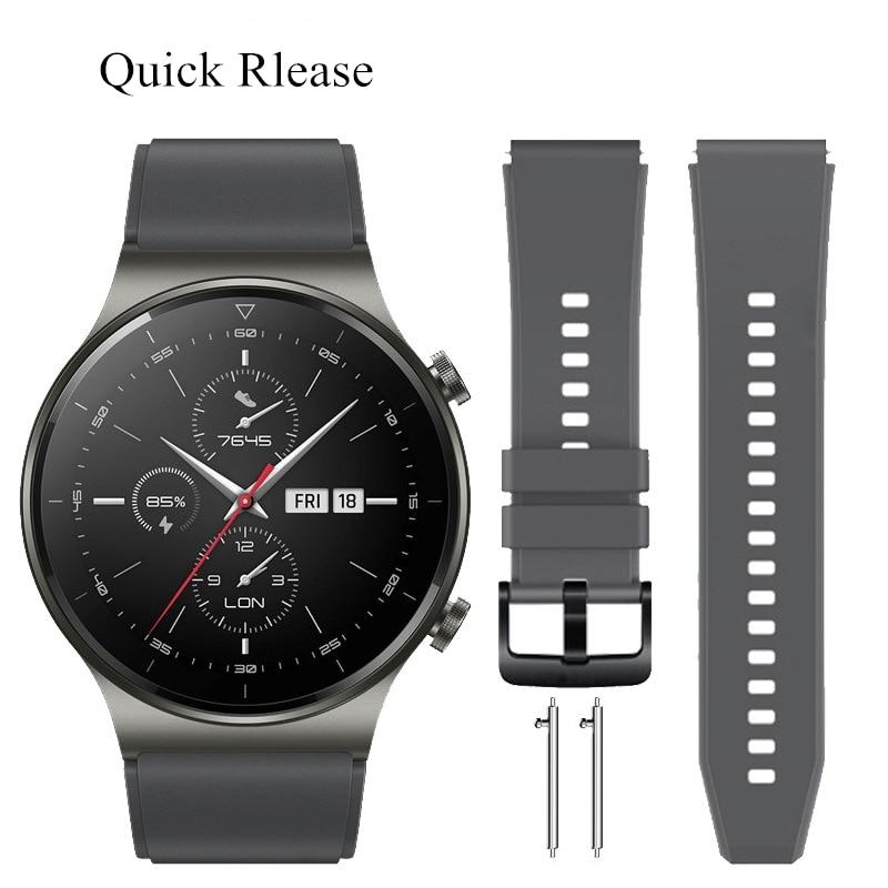 Ремешок силиконовый для HUAWEI WATCH GT 2 Pro, браслет для наручных часов HUAWEI GT2 Pro gt2pro, браслет в официальном стиле