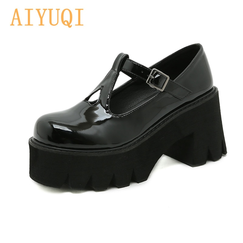 AIYUQI Mary Jane Shoes Women Platform New Spring College Style High Heel Student Shoes Ladies Thick