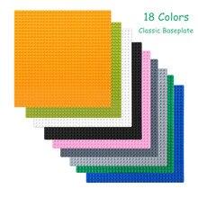 Offre spéciale 32*32 points plaques de Base classiques pour petites briques ville route plinthe chiffres bricolage blocs de construction jouets pour enfants