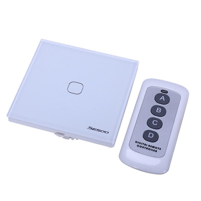 Control remoto Sesoo, interruptor de presión de Control remoto inalámbrico por radiofrecuencia para hogar inteligente, interruptor de Control de pared