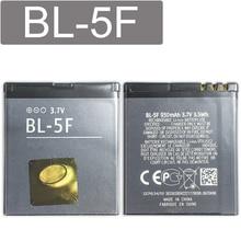 KiKiss 950mAh Real Objeto Testado BL-5F Bateria Do Telefone Para Nokia 6290 E65 N93i 6210 N96 6210S 6710N N95 BL 5F Baterias Li-polímero