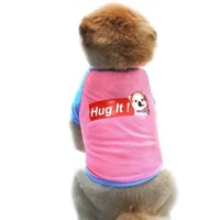 dog clothes for small dogs costumes bone short sleeved printed summer pets puppy dog clothes pet cat vest t shirt pug apparel