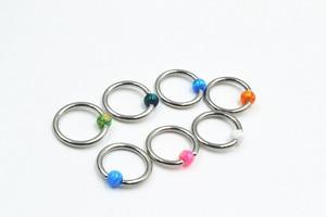 20pcs Free Shippment Opal Stone Nose Ring/Nipple/Ear BCR Body Piercing earring Helix/Tragus/Cartilage Body Piercing 1.2*8*3mm