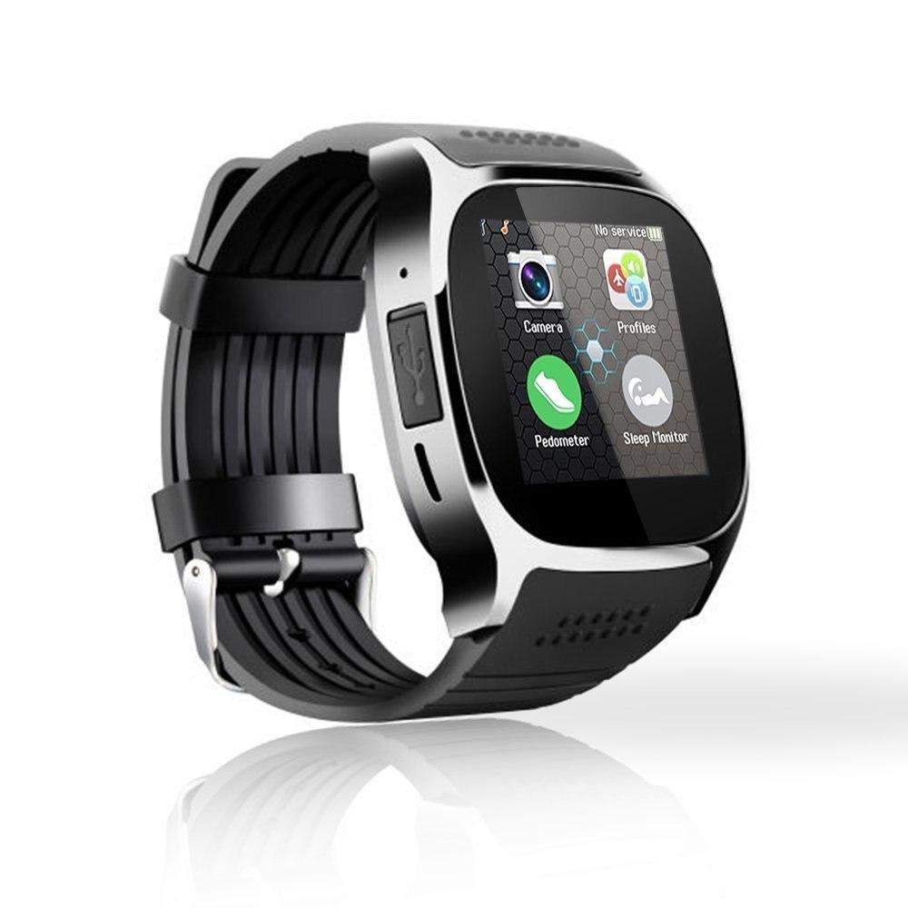 T8 reloj inteligente 16G batería LQ-S1 GPS Cámara SIM TF Fitness Tracker Smartwatch impermeable pulsómetro Monitor Android IOS teléfono