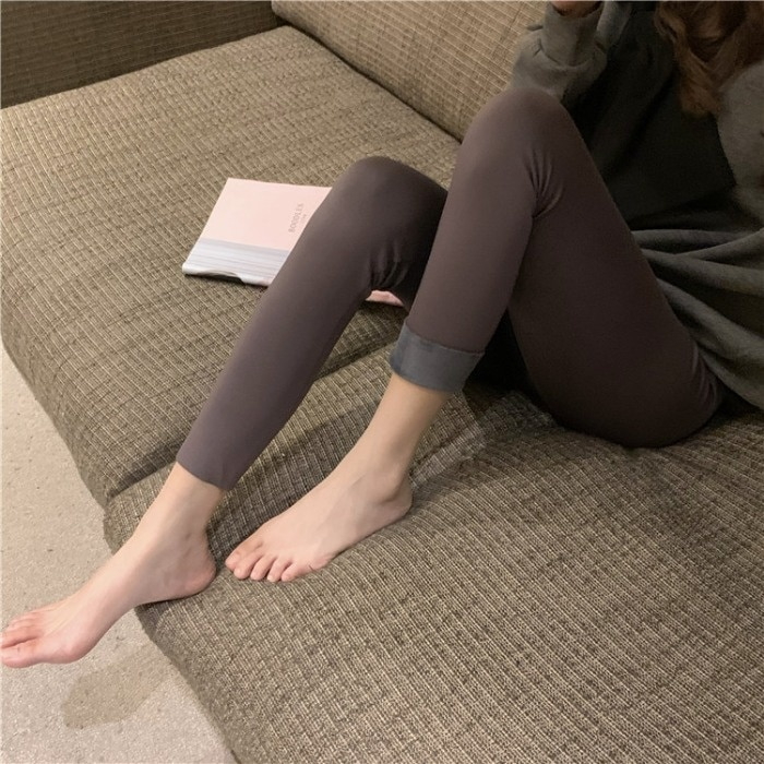 Autumn/winter 2021 New Korean Style Tight Belly Trimming Shark Sports Pants Female Outdoor All-match
