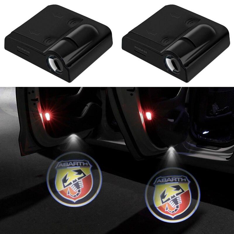 2 шт. беспроводной Led двери автомобиля Добро пожаловать лазерный проектор логотип светодиодный проектор логотипа для Fiat 125 500 Punto Bravo Stilo, Panda Abarth