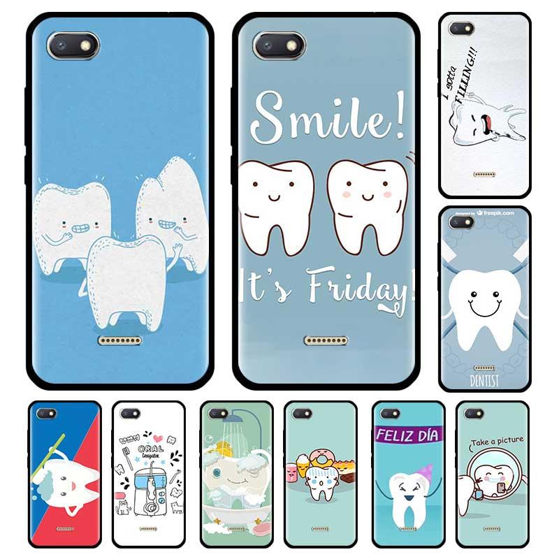 Funda negra para Xiaomi Redmi Note 8 8T 9S 9 7 8A 7A K30 Pro Zoom Mi 9T Note10, funda de teléfono, funda Dental para dentista