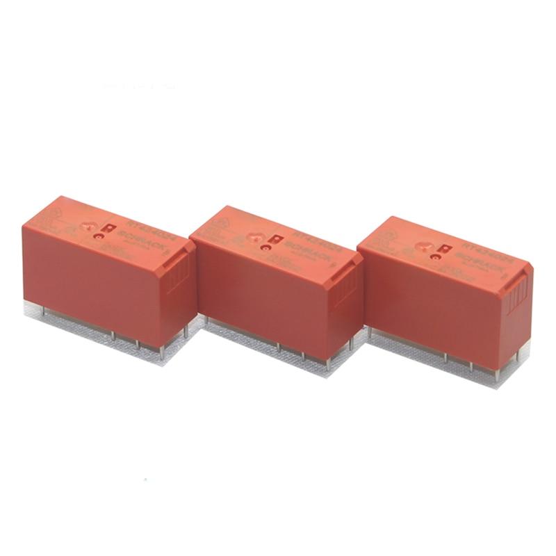 New 10pcs/lot  relay  RT424024 24V  8A 8PIN