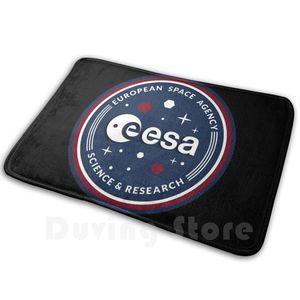 Esa Emblem Mat Rug Carpet Anti-Slip Floor Mats Bedroom Esa European Space Agency European Union Logo International Space Team