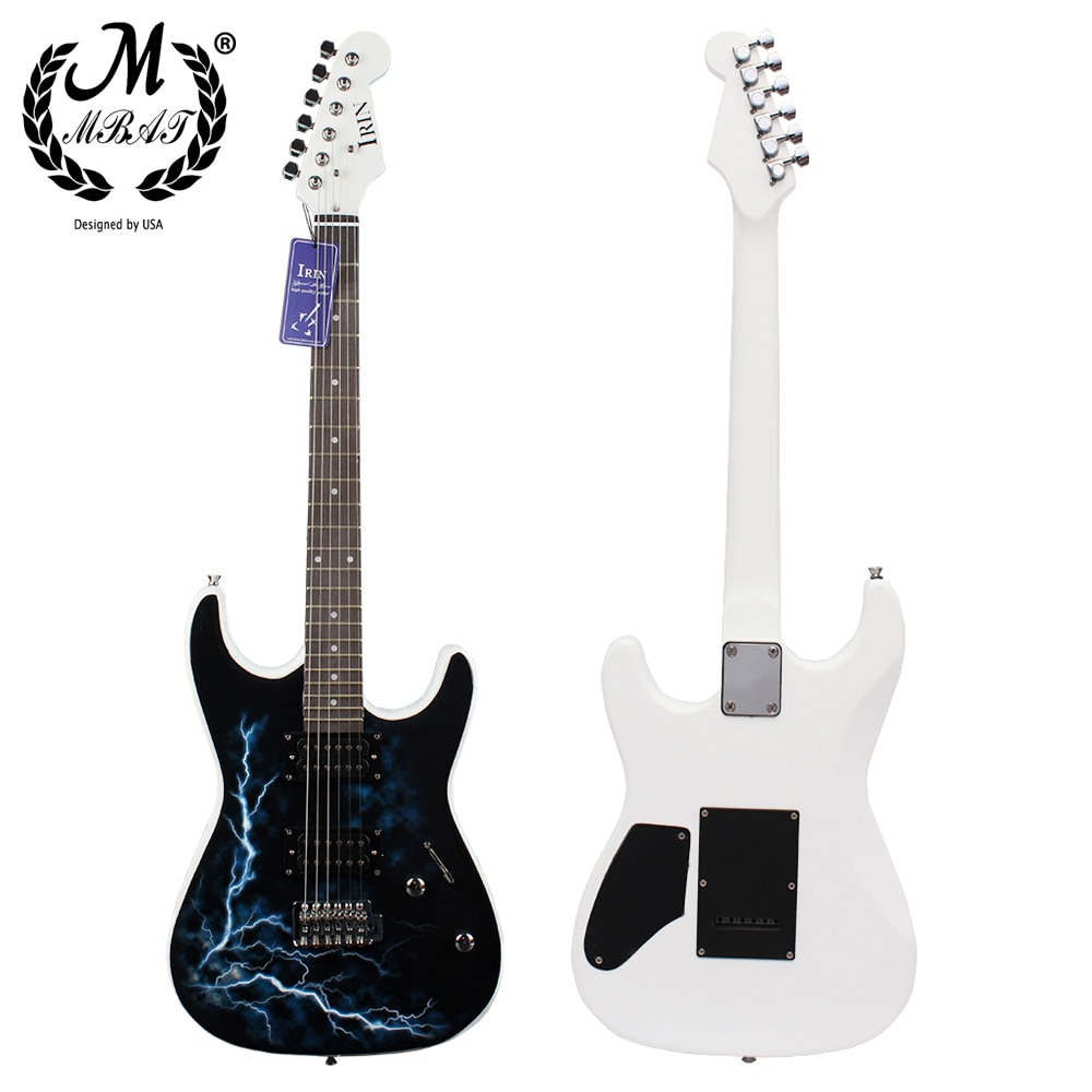 M MBAT 21 Frets 6 Strings Electric Guitar Kit Solid Wood Body Maple Neck with Picks Speaker Necessary Guitar Parts & Accessories enlarge