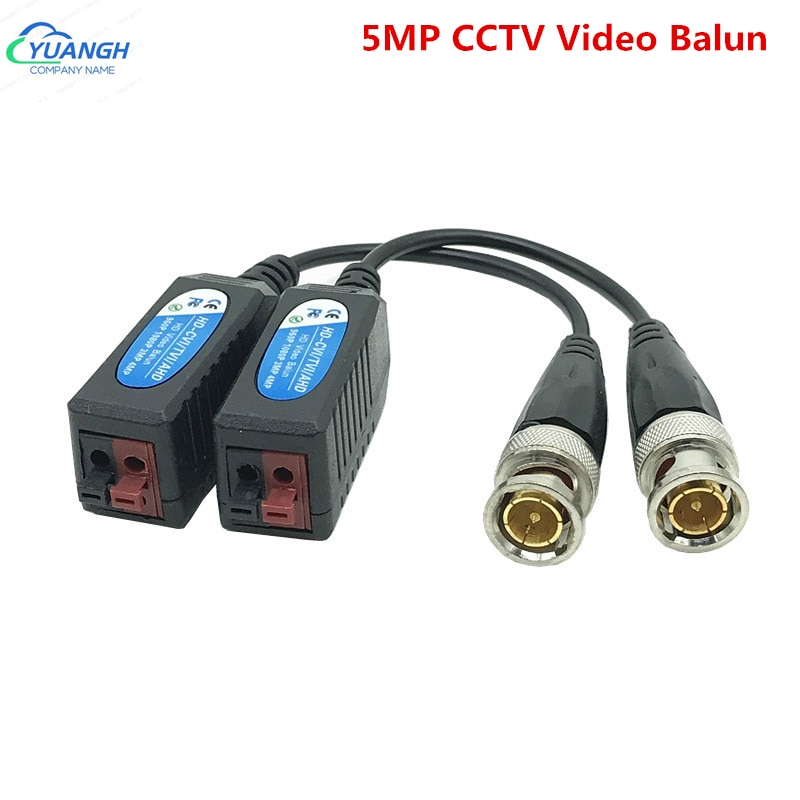 5 пар 5MP CCTV Video Balun BNC пассивные трансиверы витая пара UTP Balun для AHD CVI TVI камеры