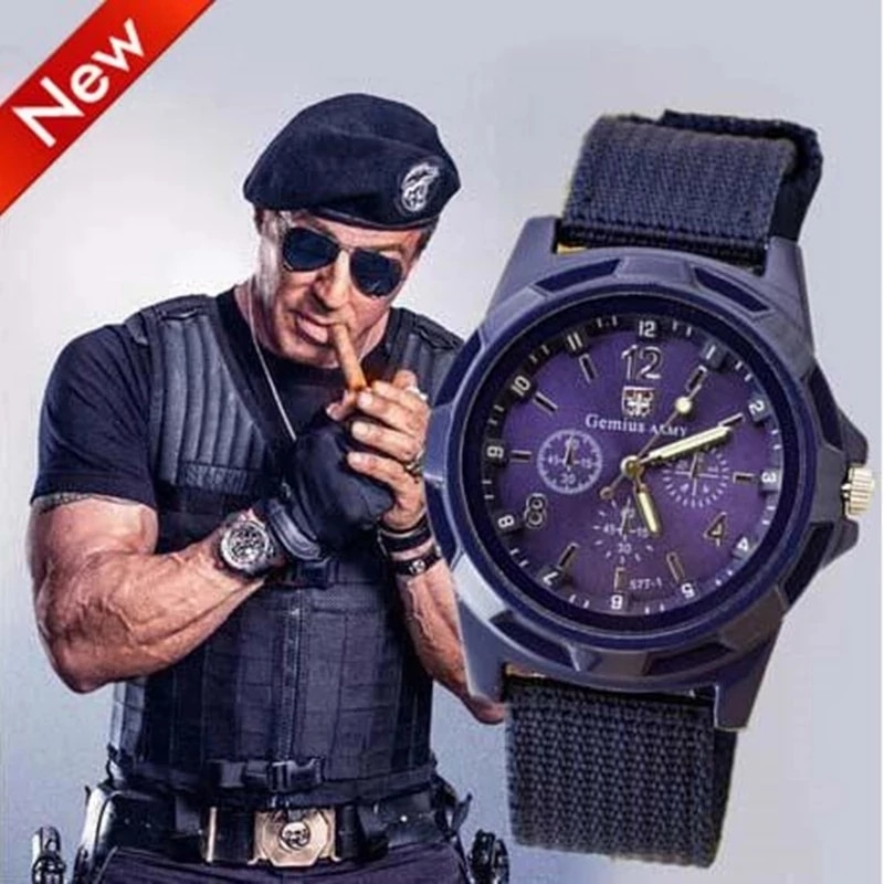 brand canvas casual 2021 New Famous Brand Men Casual Quartz Watch Army Soldier Canvas Strap Military Watches Unisex Casual  Sports Wristwatches