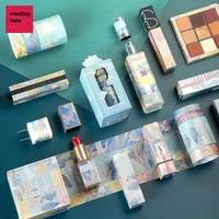 3pcsbox original chinese luxury style paper washi tape set adhesive masking tapes lipstick diy sticker