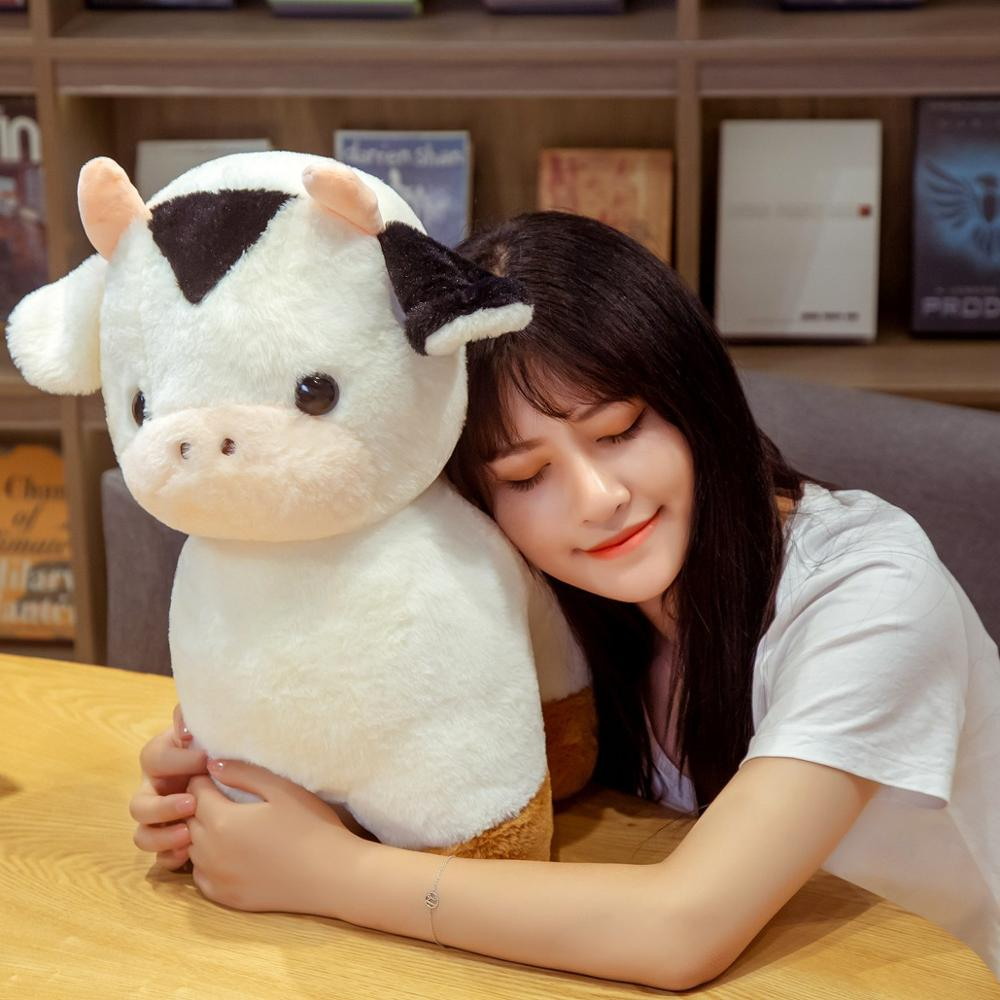 30/40/50cm Lovely Kawaii Fortune Cow Plush Toys Soft Stuffed Cute Animal Milk Cattle Plush Hug Doll for Kids Baby Birthday Gift  - buy with discount