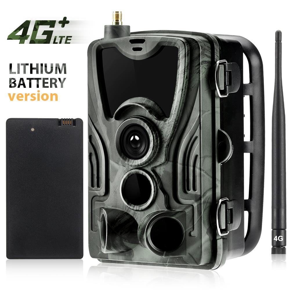 HC-801LTE 4G Trail Camera with 5000 mA lithium battery MMS SMS SMTP Hunting Camera IP65 Photo Traps 940nm IR LED Wild Camera недорого