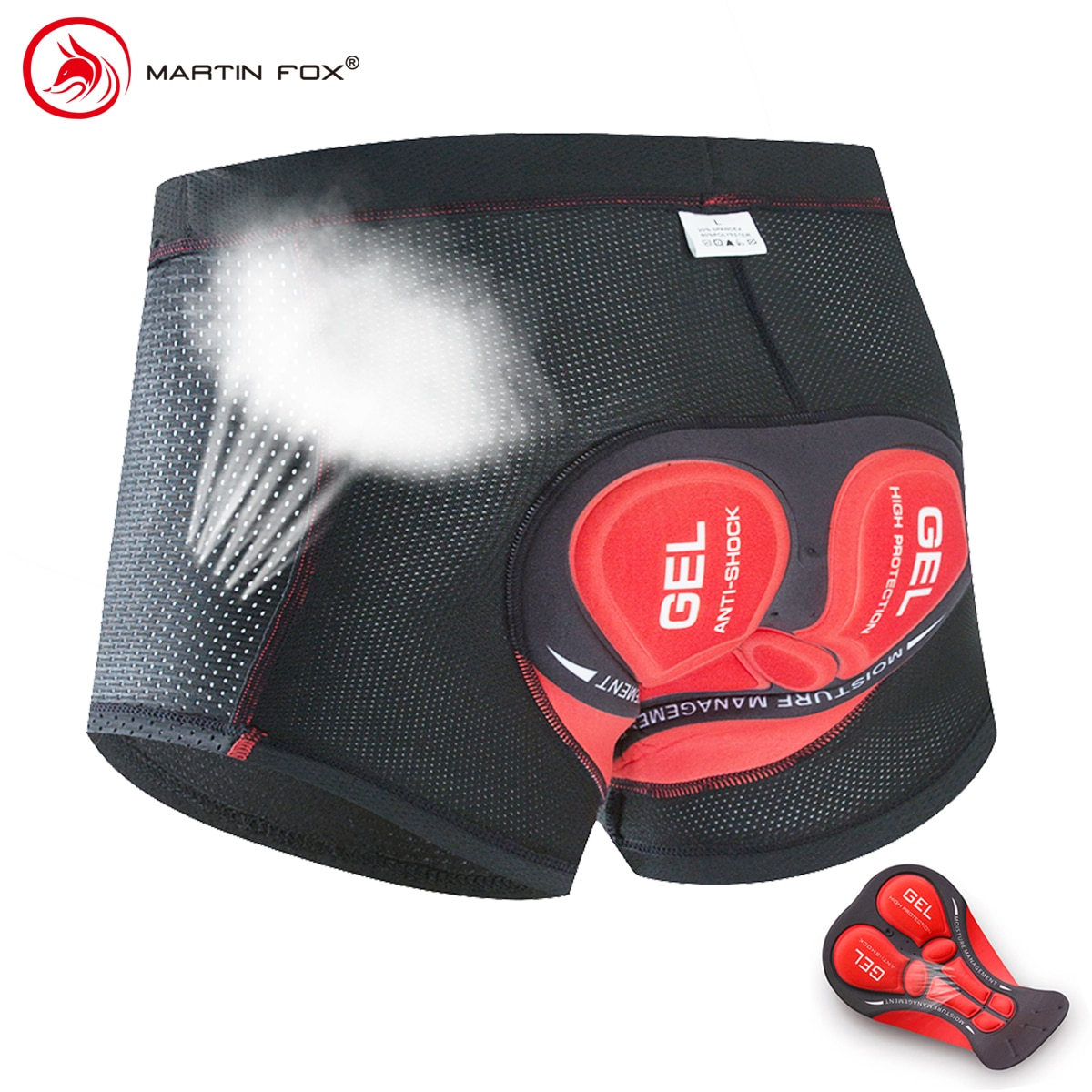 Upgrade Cycling Shorts Cycling Underwear Pro 5D Gel Pad Shockproof Cycling Underpant Bicycle Shorts Bike Underwear martin fox