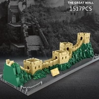 disney mickey mouse around the world block china the great wall model brick educational toy collection nanobrick for gifts