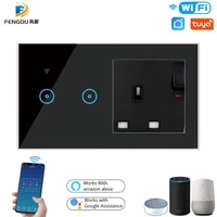 Smart Life     interrupteur WiFi Tuya pour maison connectee  telecommande  lumiere  prise UK  compte a rebours  Google Assistant  Alexa