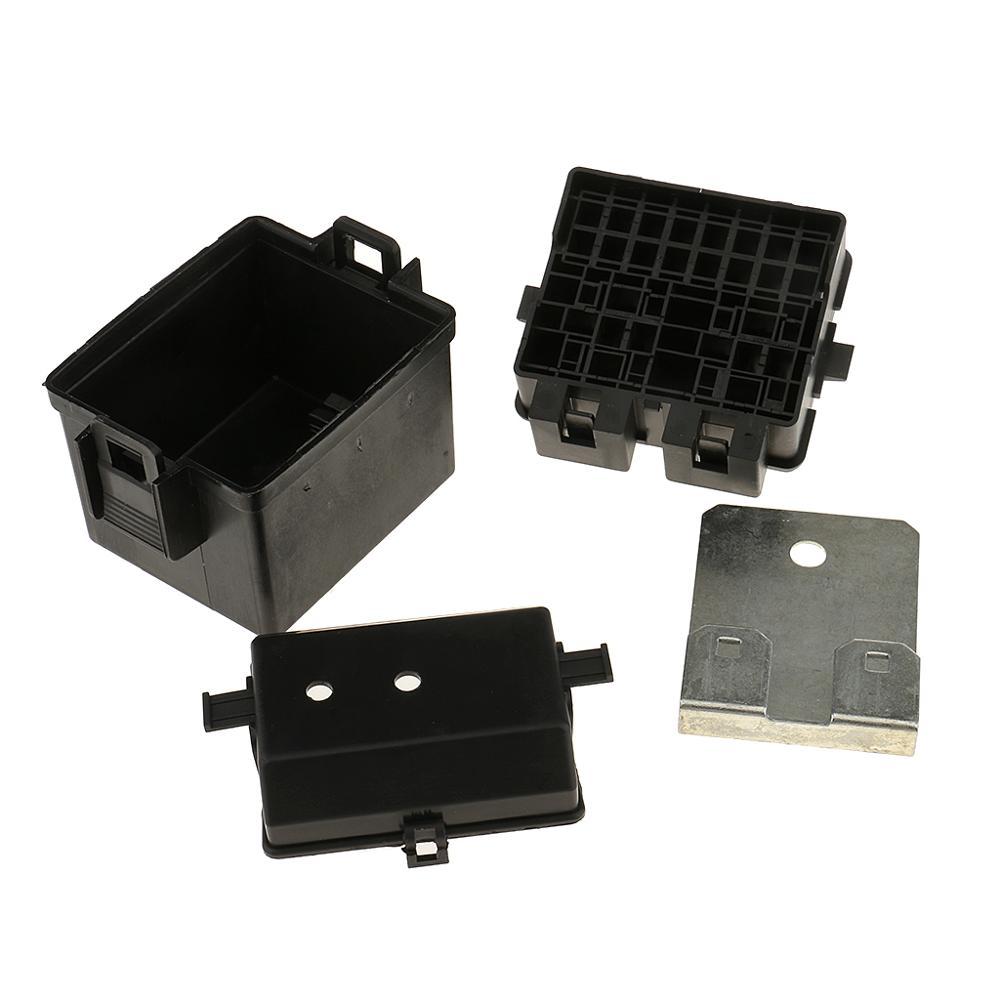 Caja de fusibles de cuchilla de circuito de 2 vías 12V, Kits de soporte automotriz para coche y barco