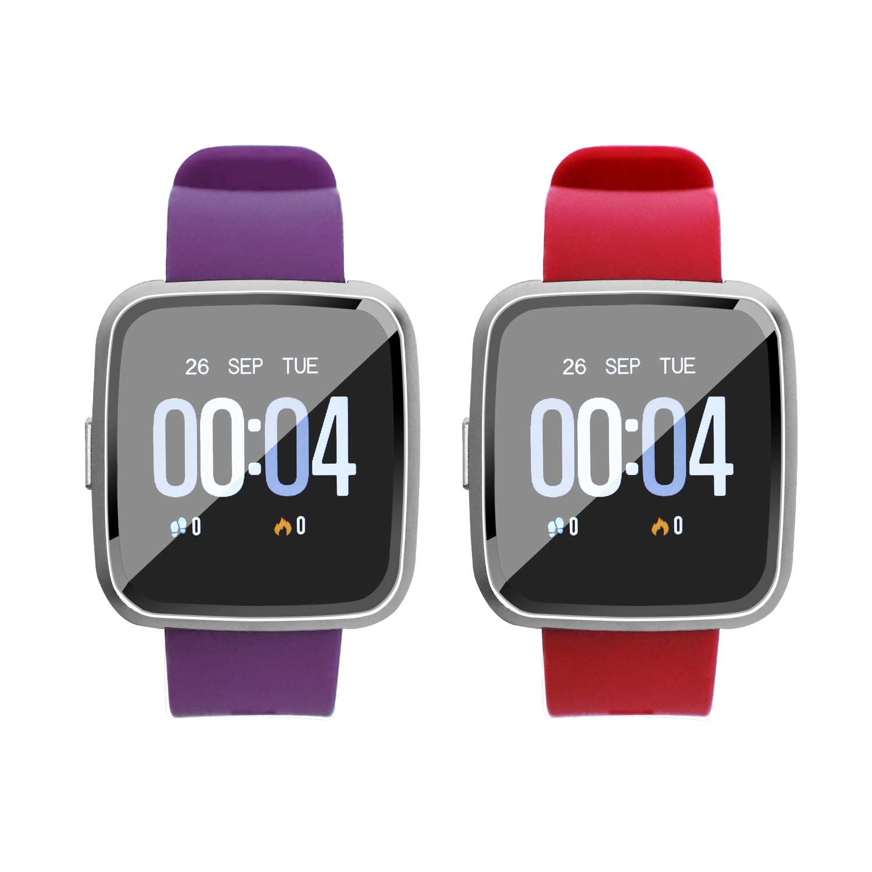 Reloj inteligente Y7 con Bluetooth, Monitor de pulso, presión arterial, sueño, Color impermeable, banda deportiva para Ios y Android