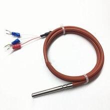 Étanche pt100 capteur de température trois fils platine résistance thermique silicone fil bouclier câble