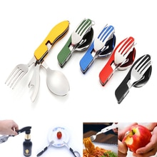 Can opener flatware Portable tableware bottle spoon knife cutlery multi tool multitool Picnic camp fold Spork fork utensil