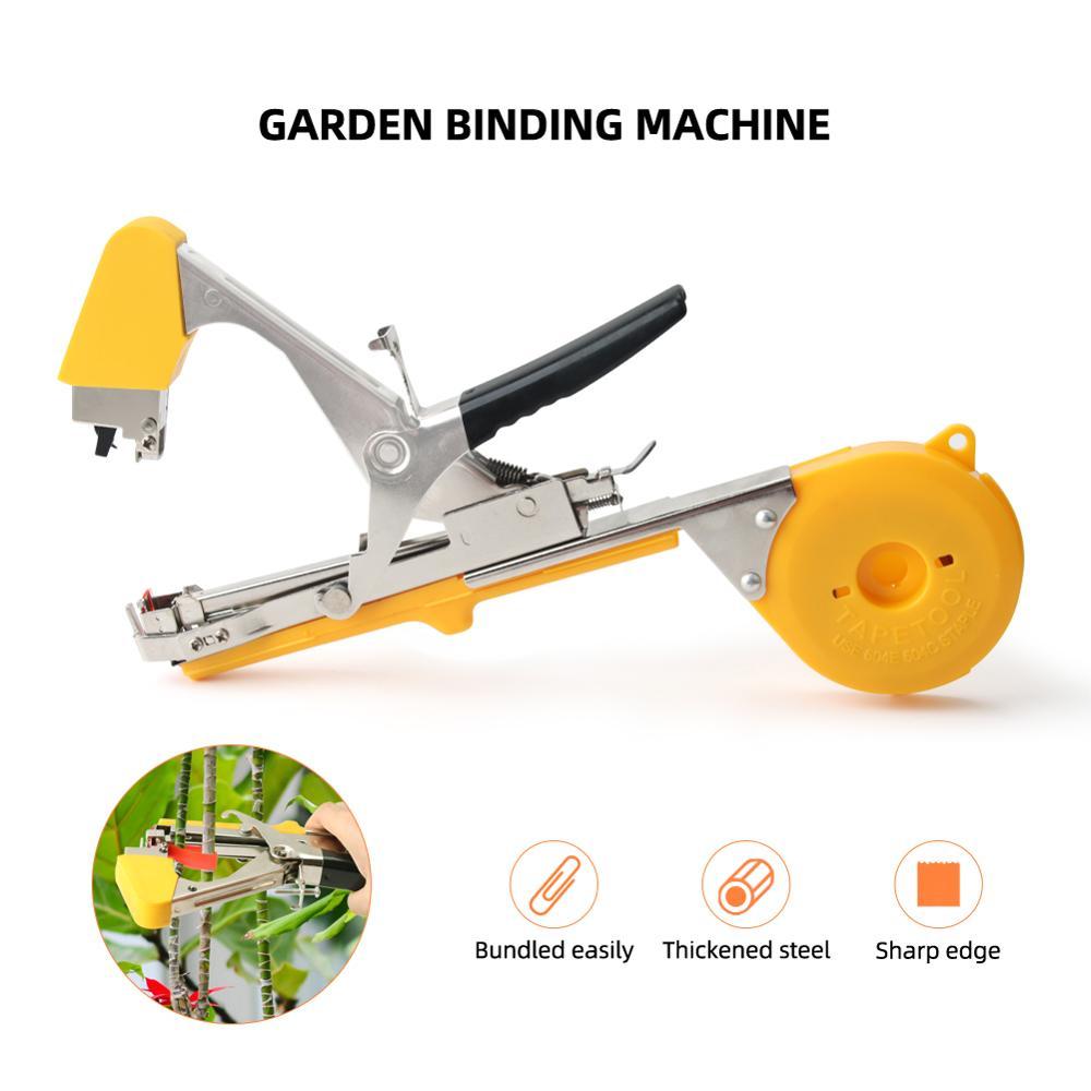 Yieryi المحمولة ربط جهاز الكرمة ماكينة ربط شجرة النبات ماكينة ربط حديقة المقلم أداة العنب والطماطم والخيار