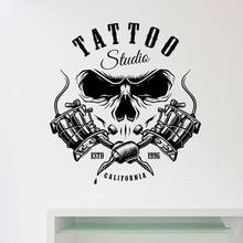 Vinyl Wall Art Salon Muurstickers Tattoo Studio Room Decoratie Zelfklevende Muur Tattoo Sticker Behang Winkel Poster Logo