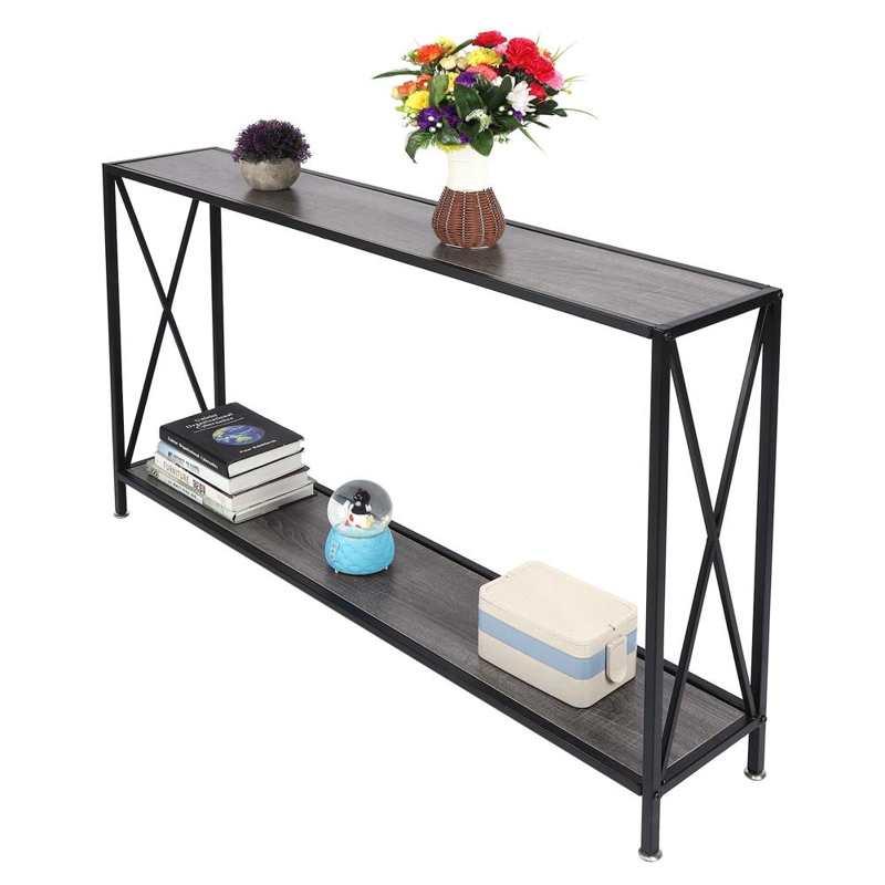 ريترو ستايل الصناعية 2-الطبقة وحدة طاولة جانبية أريكة الجدول منضدة كتابة ل غرفة المعيشة المنزلي إمدادات الأثاث