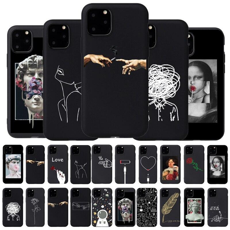 Чехол для телефона с 3D рельефом для iPhone 6 6s 7 8 Plus X 5 5S SE 11Pro, мягкий чехол из ТПУ с сердечком для iPhone 8 XR XS Max