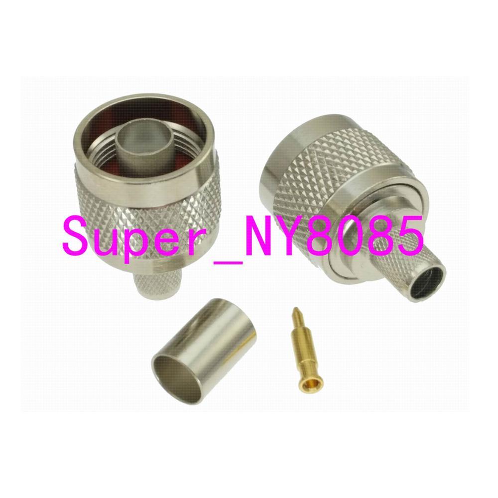1pce Разъем N штекер обжимной RG5 RG6 5D-FB LMR300 кабель прямой