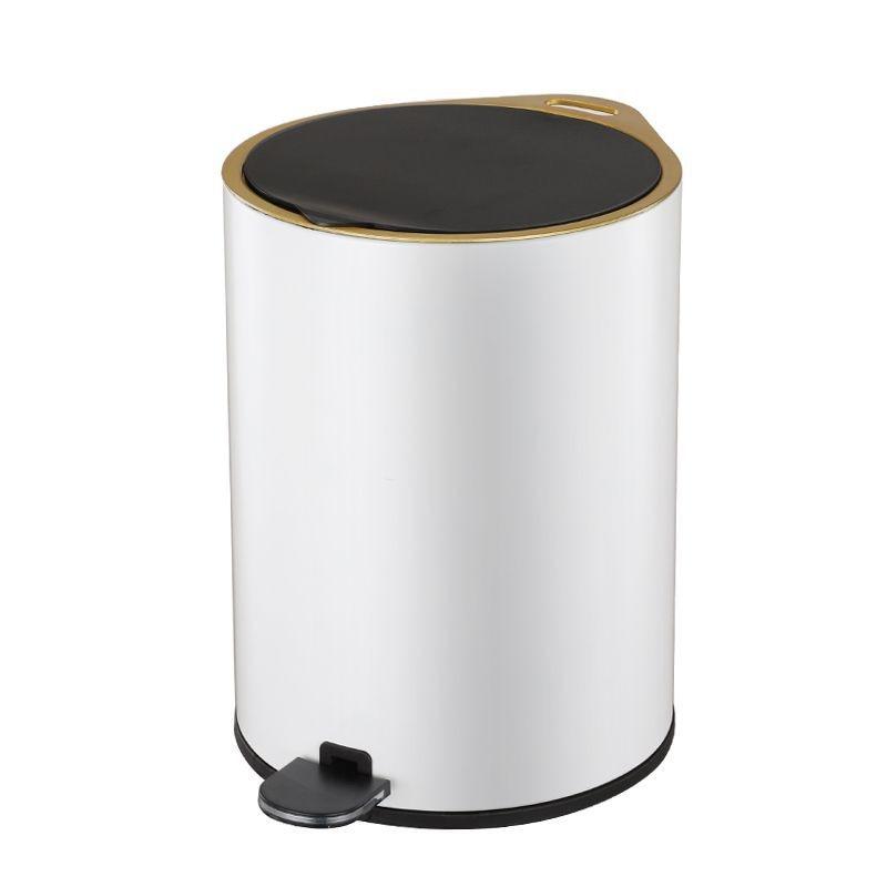 Creative Nordic Waste Bin Luxury Living Room Press Stainless Steel Waterproof Trash Can Toilet Kosz Na Smieci Household Products enlarge