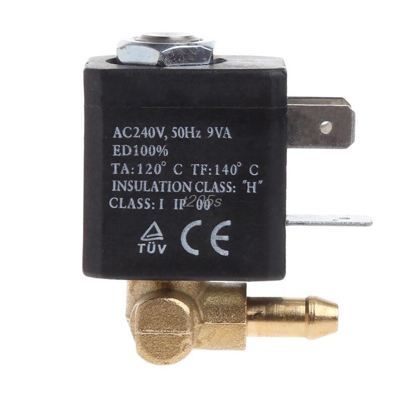 "Cánula N/C AC 230V G1/8 ""latón generador de aire de vapor agua válvula solenoide café T25 Drop ship 50PB"