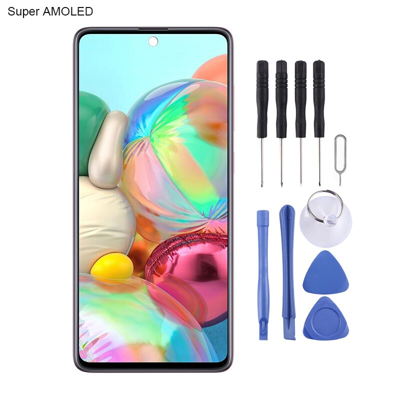 iPartsBuy for Galaxy A71 Original Super AMOLED Material LCD Screen and Digitizer Full Assembly enlarge