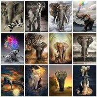 Evershine     peinture diamant theme elephant  broderie complete 5D  perles carrees  animaux  mosaique  images en strass  decoration de maison  bricolage