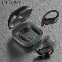 tws wireless bluetooth earphones stereo headphone in ear earbuds true hifi sport headset with led digital display touch control