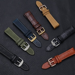 20/22mm Cowhide Surface Silicone Bottom Waterproof Watch Strap Suitable For Fossil Breitling Rolex Watch Accessories