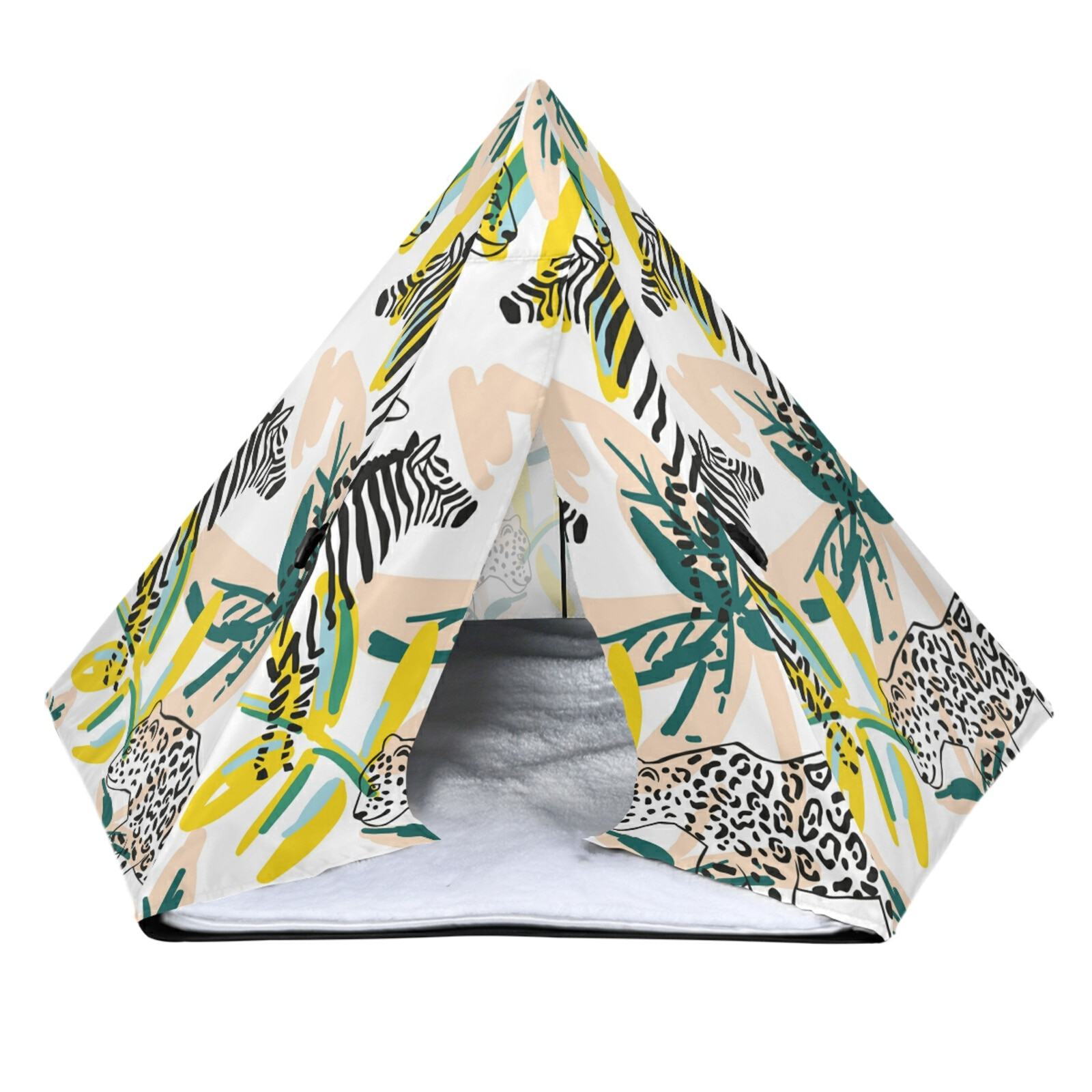 pet-house-tent-cat-bed-portable-teepee-with-thick-coral-velvet-cushion-comfortable-dog-puppy-outdoor-indoor-pet-tent-supplies