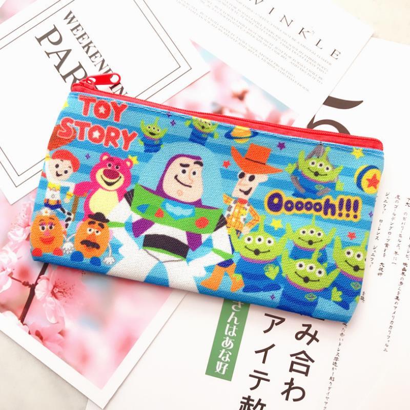 1 Pza de alta calidad de dibujos animados Monster pluma bolsa de lubina leñosa de tres ojos bolsa de cosméticos de viaje bolsa de teléfono de bolsillo figura Juguetes