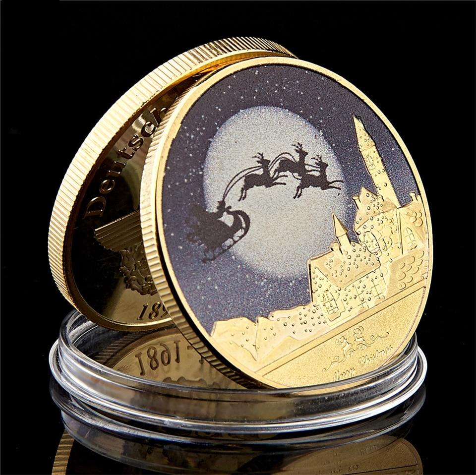 Рождественская памятная медаль монеты иностранный подарок сувенирные монеты