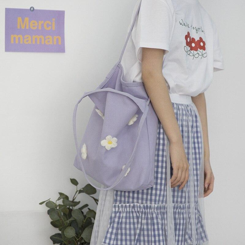 Saco de compras reutilizável dobrável das mulheres eco bolsa de praia shopper grande capacidade casual lona bolsa de ombro flor impressão tote