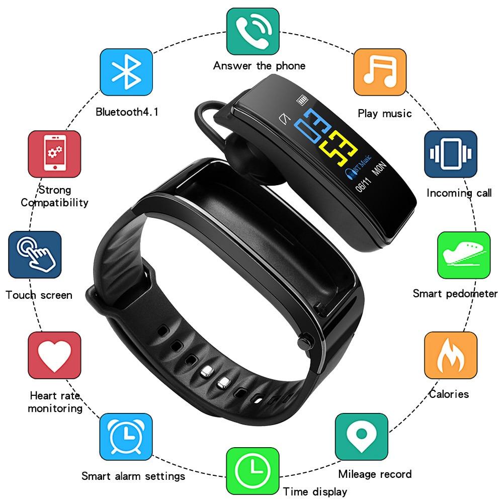 Y3 Plus Wireless Bluetooth Oortephone Smart Watch Health Tracker Stapler Fitness Bracelet Smart wristband Bluetooth Headset enlarge