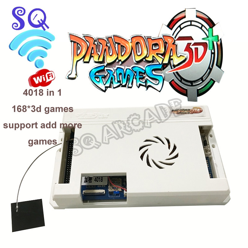 New Pandora 3D Games Box WIFI Version 4018 in 1 Arcade PCB Motherboard 168*3D Add Save Search Game Function for Retro Console direct manufacturers use the 3d pandora box arcade machines