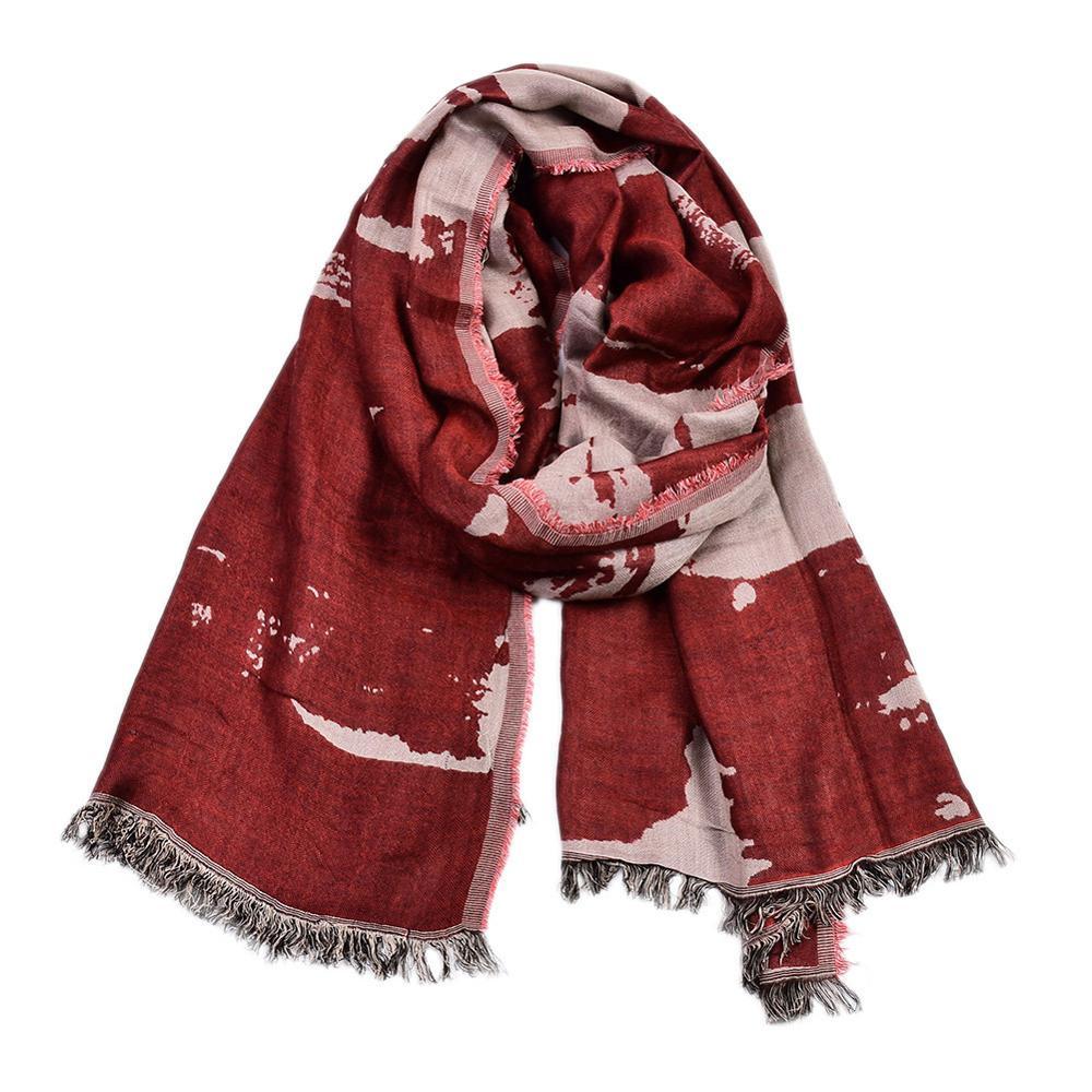 Модный зимний мужской шарф 2020, мужские шарфы из хлопка и льна с принтом, мужские шарфы в английском стиле, Короткие шарфы из пашмины с кисточ...