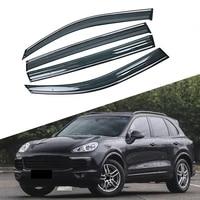 for porsche cayenne 92a 2010 2019 car window sun rain shade visors shield shelter protector cover trim frame sticker accessories